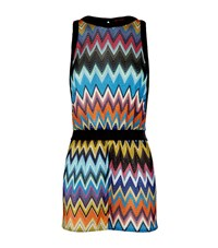 Missoni Mare Open Back Lurex Playsuit Female Pink