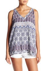 Harlowe And Graham Cutout Tiered Tank Multi