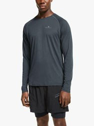 Ronhill Everyday Long Sleeve Running Top Charcoal Marl