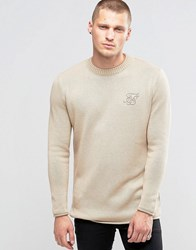 Sik Silk Siksilk Jumper With Raw Edges Stone