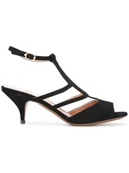 L'autre Chose Strappy Sandals Black