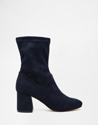 Asos Ruby Ankle Boots Navy