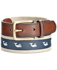 Club Room Men's Whale Web Belt Only At Macy's Khaki