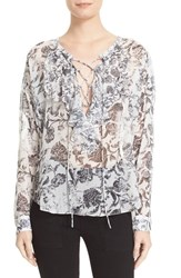 The Kooples Women's Baroque Print Shirt