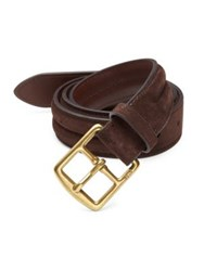 Polo Ralph Lauren Saddle Strap Suede Belt Mahogany