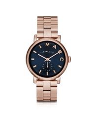 Marc By Marc Jacobs Baker Bracelet 36Mm Navy Blue Dial Women's Watch Pink