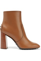 Tod's Leather Ankle Boots Light Brown