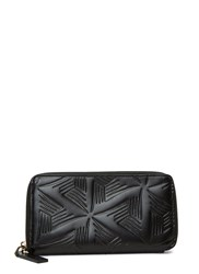 Marni Embossed Leather Zipped Wallet Black