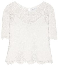 Velvet Colleen Cotton Lace Top White