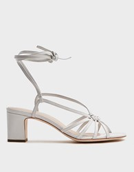 Loeffler Randall Knotted Wrap Sandal In White