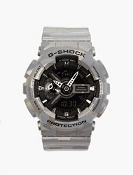 Casio Silver Metallic Camouflage Ga 100Cm Watch Blue
