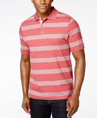 Tasso Elba Men's Striped Tipped Polo Only At Macy's Classic Rose