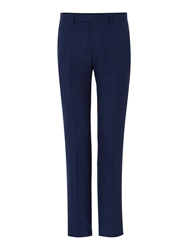 New And Lingwood Thames Panama Suit Trousers Navy