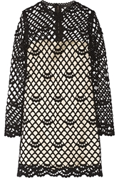 Marc Jacobs Guipure Lace And Silk Satin Dress