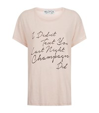 Wildfox Couture Champagne Texting Tissue T Shirt Female Pink