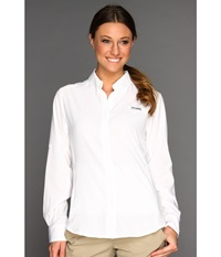 Columbia Tamiami Ii L S Shirt White Women's Long Sleeve Button Up