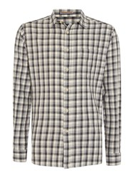 Howick Men's Colden Marl Checked Long Sleeved Shirt Grey
