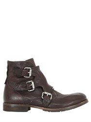 A.S.98 Monk Strap Washed Leather Boots