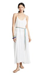 9Seed Tulum Maxi Cover Up Dress White Rainbow