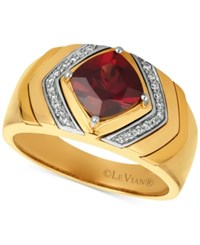 Le Vian Gents Pomegranate Garnet 2 1 2 Ct. T.W. And Diamond 1 8 Ct. T.W. Ring In 14K Gold Red