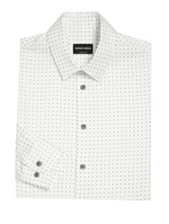 Giorgio Armani Regular Fit Printed Dress Shirt Multi