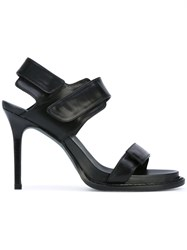 Ann Demeulemeester Touch Fastening Sandals Women Calf Leather Leather 39 Black