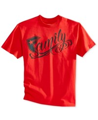 Famous Stars And Straps Famous Stars And Straps Men's Big Family Graphic Print Logo T Shirt Red