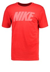 Nike Performance Print Tshirt Track Red White