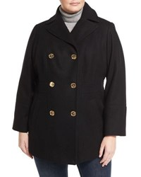 Michael Michael Kors Double Breasted Wool Blend Coat Plus Size