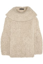 The Row Keeton Oversized Cashmere Sweater Cream