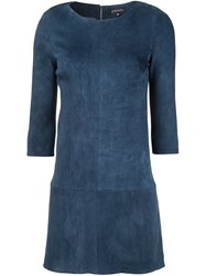 Jitrois 'Kourou' Mini Dress Blue