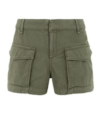 Rag And Bone Rag And Bone Cotton Cargo Shorts Female Green