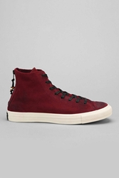 Converse Chuck Taylor All Star Heel Zip Suede High Top Men's Sneaker Purple Multi