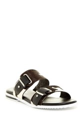 Donald J Pliner Libra Genuine Calf Hair Open Toe Sandal Narrow Width Available Black