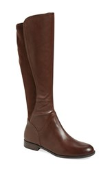 Women's Franco Sarto 'Maleni' Stretch Riding Boot Brown Leather