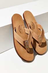 Rainbow Premier Leather Flip Flop Light Brown