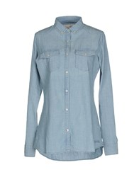 Vintage 55 Denim Denim Shirts Women Blue