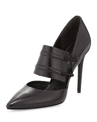 Kenneth Cole New York Water Leather High Heel Pump Black