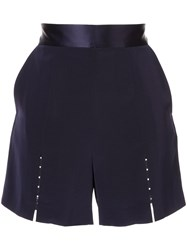 Comme Moi Beaded Detail Shorts Blue
