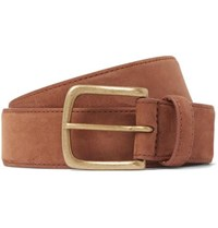 Anderson And Sheppard 3.5Cm Suede Belt Brown