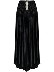 Paco Rabanne Crystal Detail Flared Maxi Skirt 60