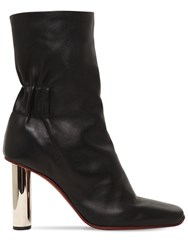 Proenza Schouler 100Mm Leather Ankle Boots W Metal Heel Black