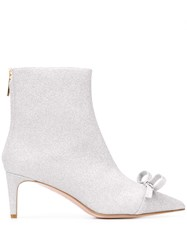 Red Valentino Bow Detail Glitter Ankle Boots 60