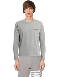 Thom Browne Cotton Jersey Long Sleeve T Shirt