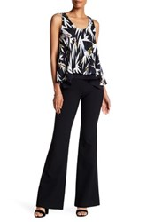Nicole Miller Nina Stretch Tech Wide Leg Pant Black