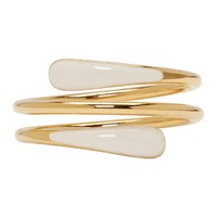 Isabel Marant Gold And Off White Resin Ring