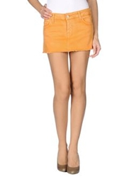 Cycle Denim Skirts Orange