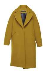 Martin Grant Wool Cocoon Coat Yellow