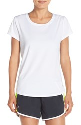Under Armour Women's 'Fly By' Mesh Back Tee White