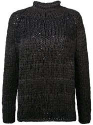 Casey Casey Turtleneck Jumper Black